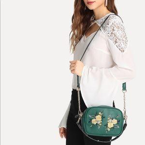 Handbags - Green Floral Bag 🌺